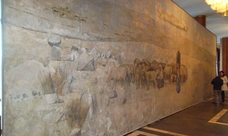 The U.S. Government supports Armenian Culture and Gyumri with Important Mural Restoration