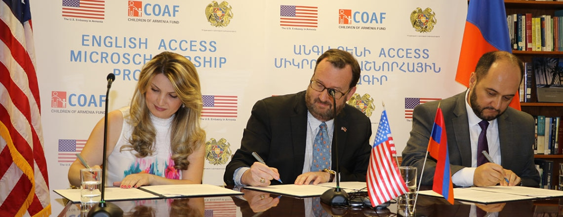 U.S. Embassy joins RA Ministry of Education and Science and COAF  to expand English Educat